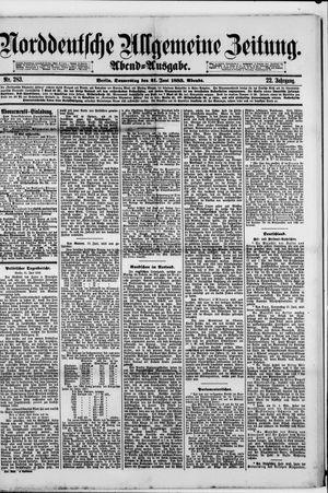 Norddeutsche allgemeine Zeitung vom 21.06.1883