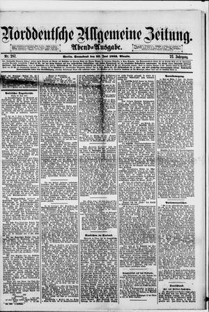 Norddeutsche allgemeine Zeitung vom 23.06.1883