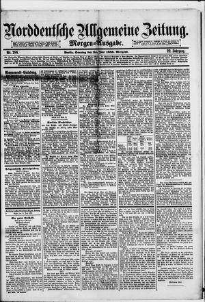 Norddeutsche allgemeine Zeitung vom 24.06.1883