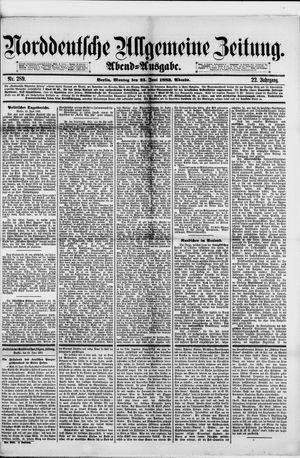 Norddeutsche allgemeine Zeitung vom 25.06.1883