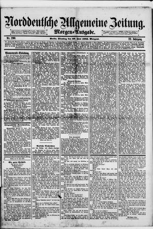Norddeutsche allgemeine Zeitung vom 26.06.1883