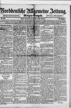 Norddeutsche allgemeine Zeitung vom 28.06.1883