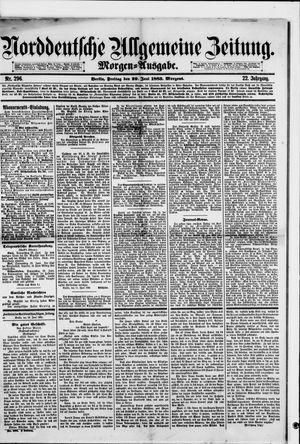 Norddeutsche allgemeine Zeitung vom 29.06.1883