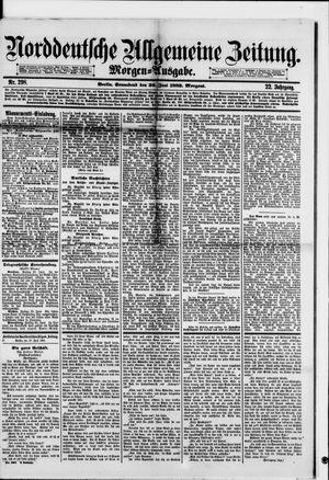 Norddeutsche allgemeine Zeitung vom 30.06.1883
