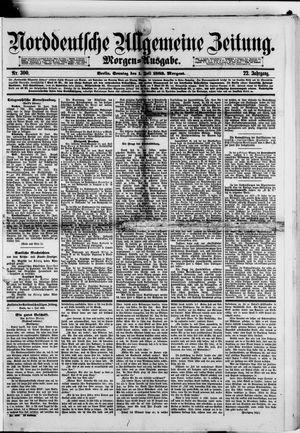 Norddeutsche allgemeine Zeitung vom 01.07.1883