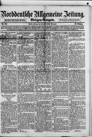 Norddeutsche allgemeine Zeitung vom 13.07.1883
