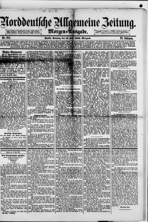 Norddeutsche allgemeine Zeitung on Jul 15, 1883