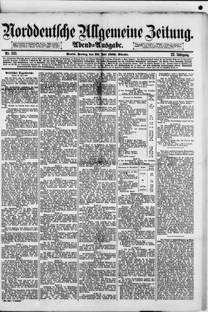 Norddeutsche allgemeine Zeitung vom 20.07.1883