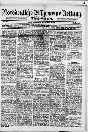 Norddeutsche allgemeine Zeitung vom 21.07.1883
