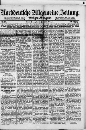 Norddeutsche allgemeine Zeitung vom 22.07.1883
