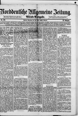 Norddeutsche allgemeine Zeitung vom 24.07.1883