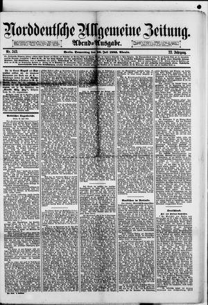Norddeutsche allgemeine Zeitung vom 26.07.1883