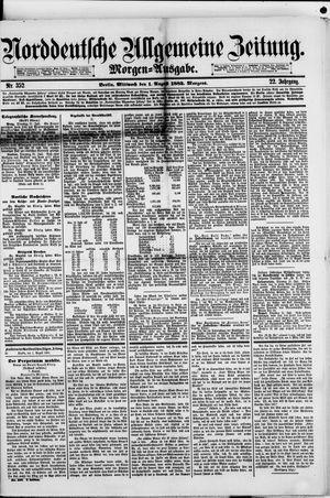 Norddeutsche allgemeine Zeitung vom 01.08.1883