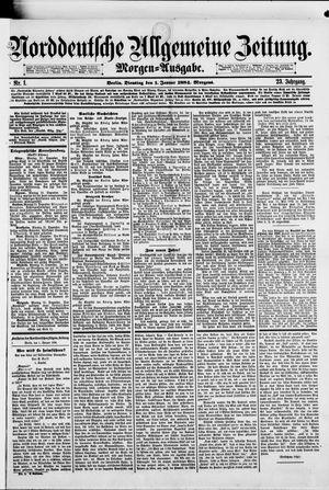 Norddeutsche allgemeine Zeitung vom 01.01.1884