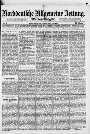 Norddeutsche allgemeine Zeitung vom 04.01.1884