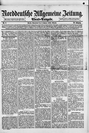Norddeutsche allgemeine Zeitung vom 05.01.1884