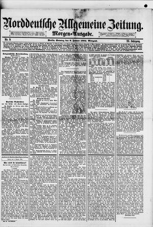 Norddeutsche allgemeine Zeitung vom 06.01.1884