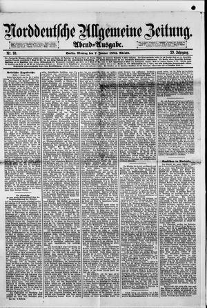 Norddeutsche allgemeine Zeitung vom 07.01.1884