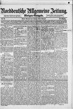 Norddeutsche allgemeine Zeitung vom 09.01.1884