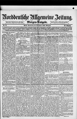 Norddeutsche allgemeine Zeitung vom 10.01.1884