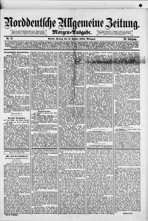 Norddeutsche allgemeine Zeitung vom 11.01.1884
