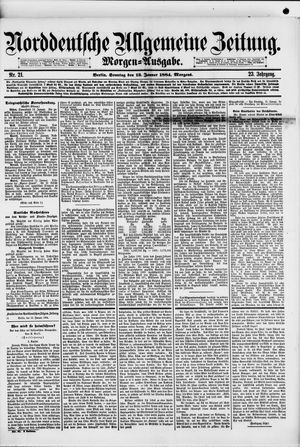 Norddeutsche allgemeine Zeitung vom 13.01.1884
