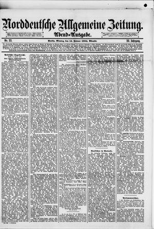 Norddeutsche allgemeine Zeitung vom 14.01.1884