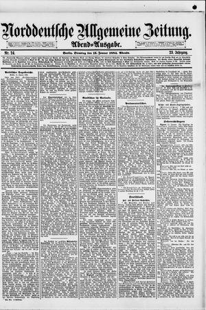 Norddeutsche allgemeine Zeitung vom 15.01.1884