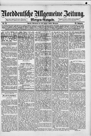 Norddeutsche allgemeine Zeitung vom 16.01.1884