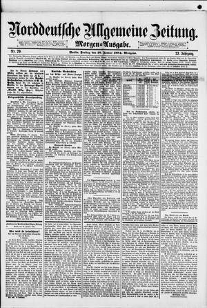 Norddeutsche allgemeine Zeitung vom 18.01.1884