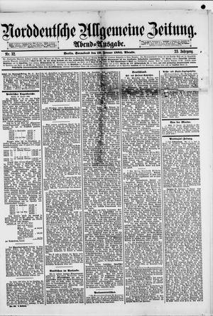 Norddeutsche allgemeine Zeitung vom 19.01.1884
