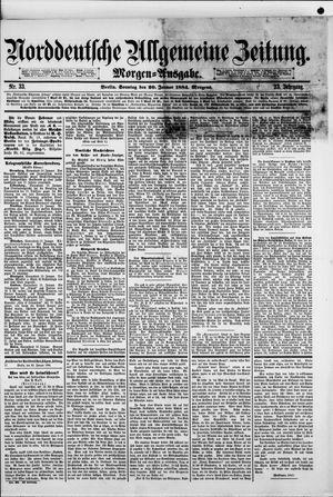 Norddeutsche allgemeine Zeitung vom 20.01.1884