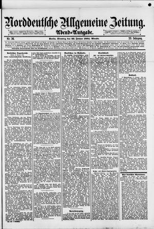 Norddeutsche allgemeine Zeitung vom 22.01.1884