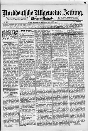 Norddeutsche allgemeine Zeitung vom 23.01.1884