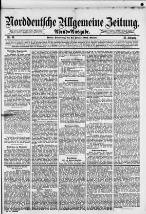 Norddeutsche allgemeine Zeitung vom 24.01.1884