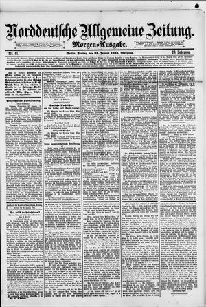 Norddeutsche allgemeine Zeitung vom 25.01.1884