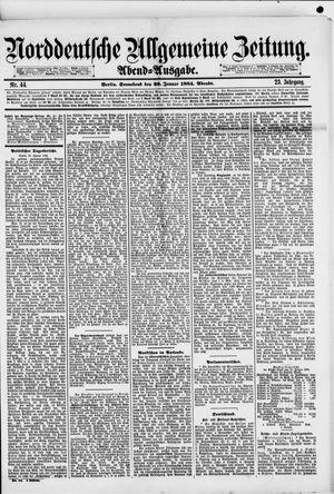 Norddeutsche allgemeine Zeitung on Jan 26, 1884