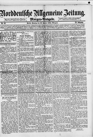 Norddeutsche allgemeine Zeitung vom 27.01.1884