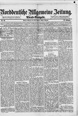 Norddeutsche allgemeine Zeitung vom 28.01.1884