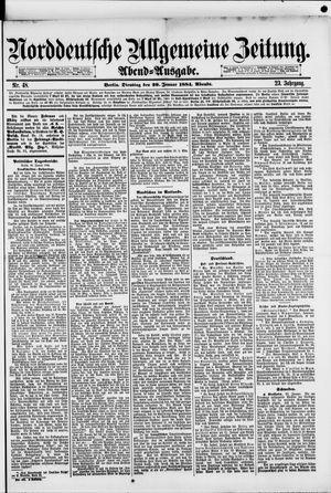Norddeutsche allgemeine Zeitung vom 29.01.1884