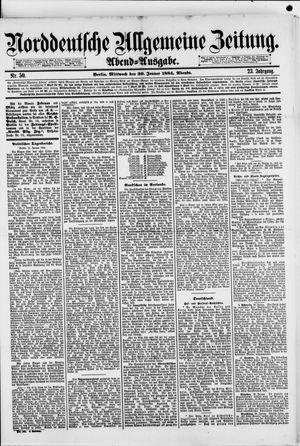 Norddeutsche allgemeine Zeitung vom 30.01.1884