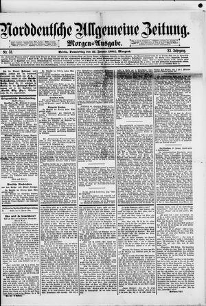 Norddeutsche allgemeine Zeitung vom 31.01.1884