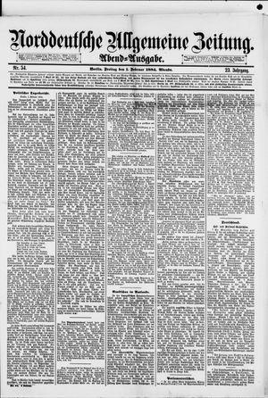 Norddeutsche allgemeine Zeitung vom 01.02.1884