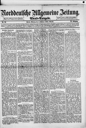 Norddeutsche allgemeine Zeitung vom 04.02.1884