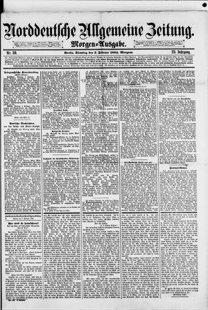 Norddeutsche allgemeine Zeitung vom 05.02.1884