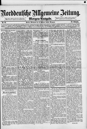 Norddeutsche allgemeine Zeitung vom 06.02.1884