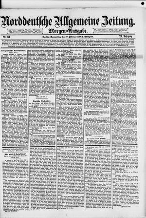 Norddeutsche allgemeine Zeitung vom 07.02.1884