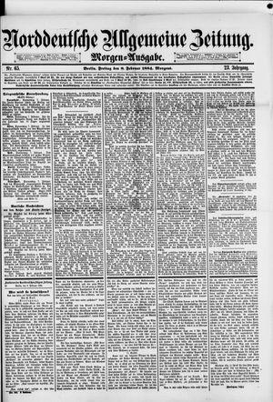 Norddeutsche allgemeine Zeitung vom 08.02.1884