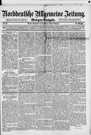 Norddeutsche allgemeine Zeitung vom 09.02.1884