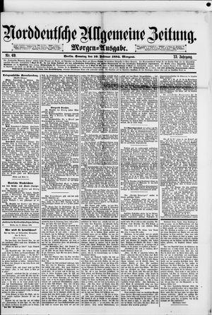 Norddeutsche allgemeine Zeitung vom 10.02.1884